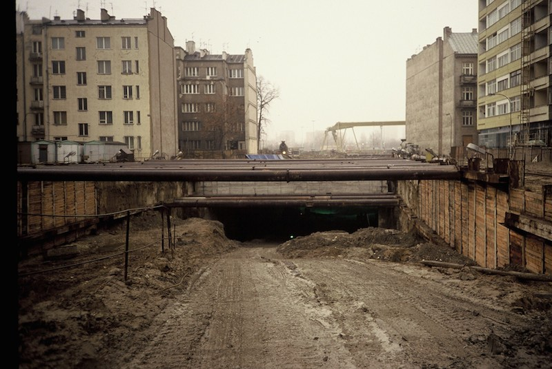 Unfinished Station, Warsaw Metro 1989