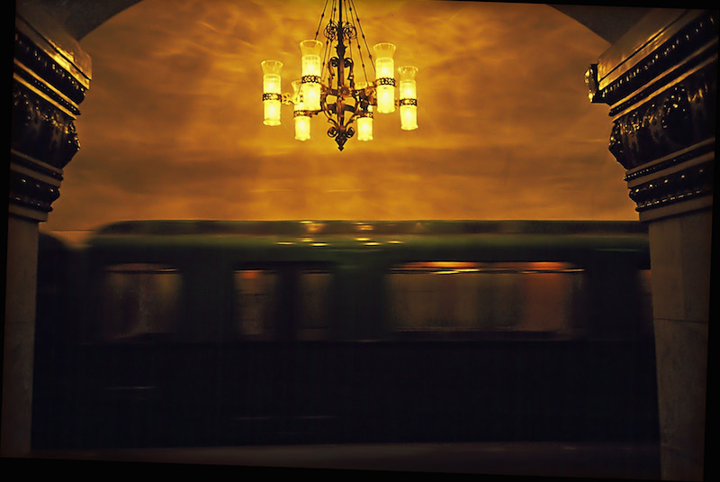 Train in Station, Moscow Metro 1991