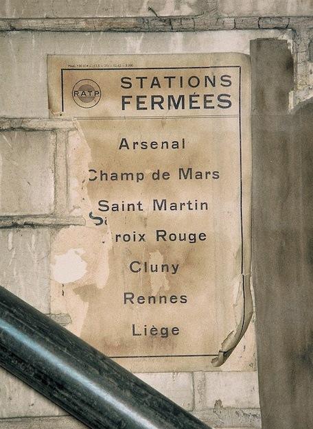 Announcement in Closed Station, Paris Metro 1996