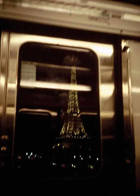 Train Traveling Above Ground, Paris Metro 1996