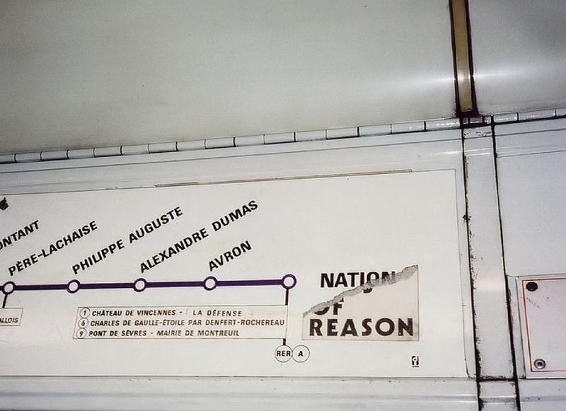 Nation - Porte Dauphine Train, Paris Metro 1990