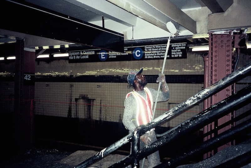 Worker in Station, New York Subway 1992