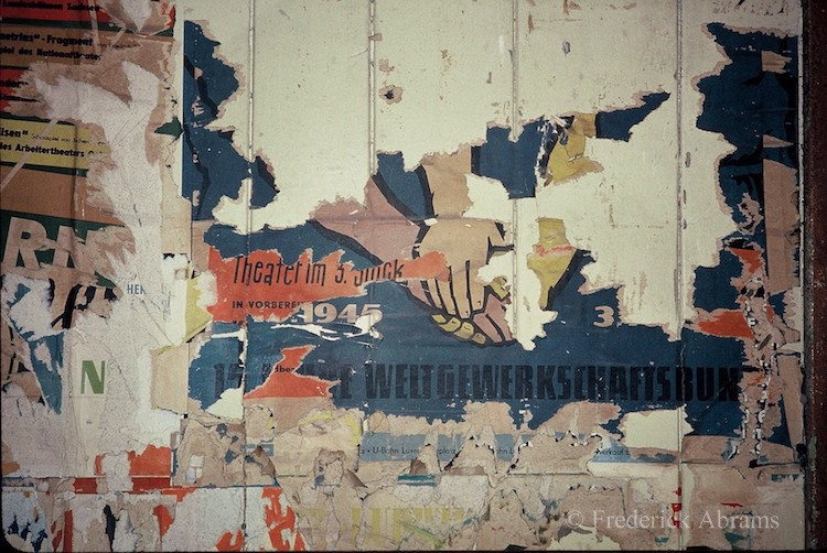 Torn Posters inside Closed Potsdamer Platz Station, Berlin U-Bahn 1991