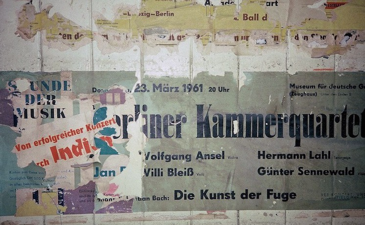 Torn Posters inside Closed Potsdamer Platz Station, Berlin U-Bahn 1991