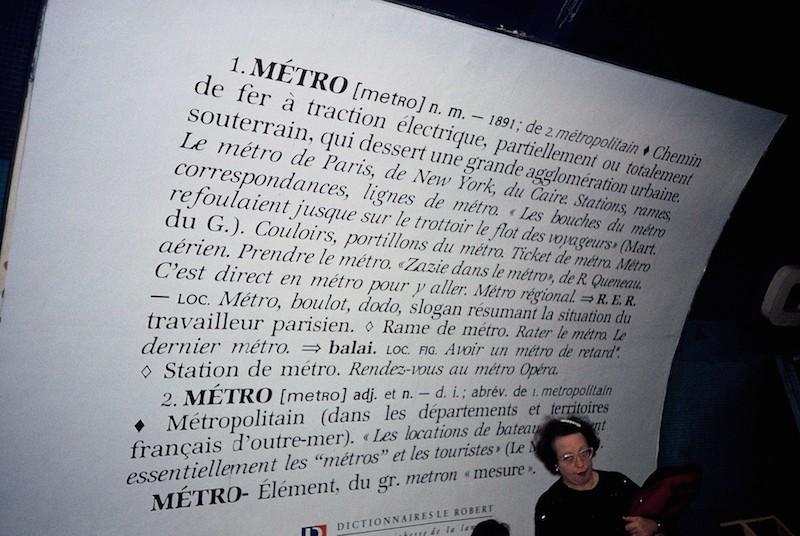Poster in Station, Paris Metro 1999