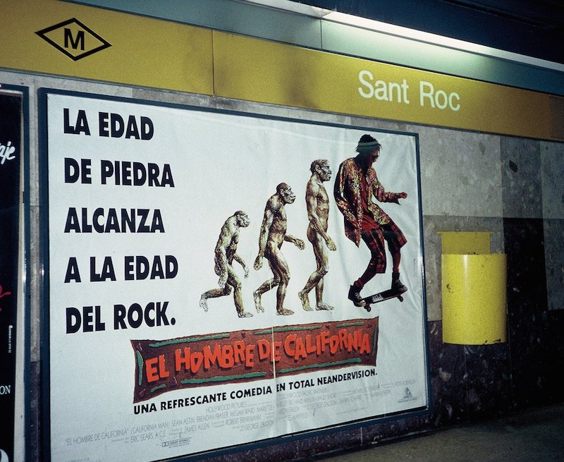 The Age of Stone Reaches the Age of Rock California Man, Sant Roc Station, Barcelona Metro 1992