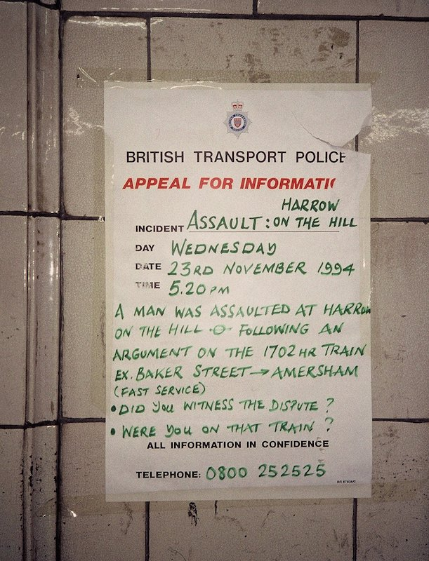 Announcement Inside of Station, London Underground 1994