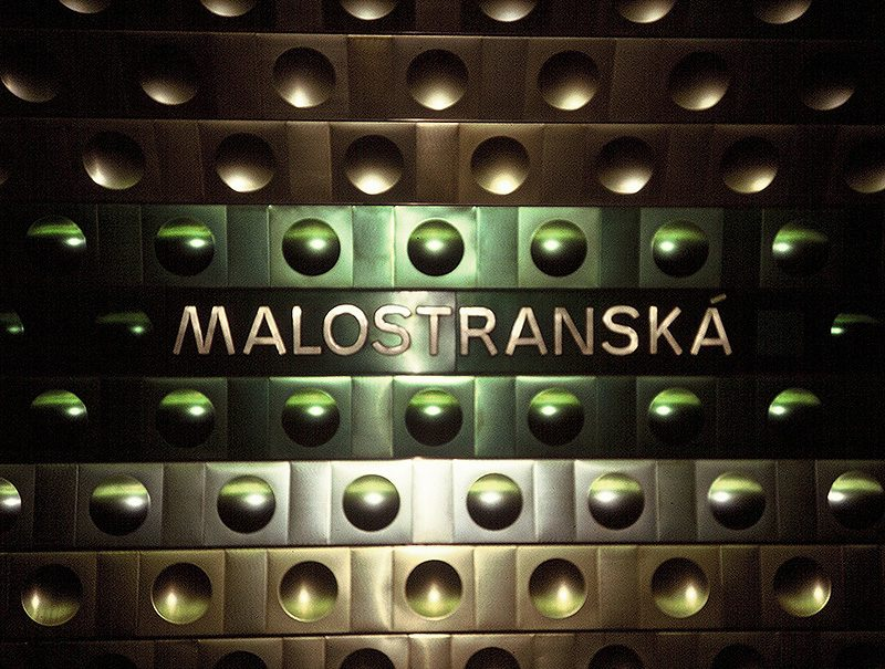 Malostranska Station, Prague Metro 1991