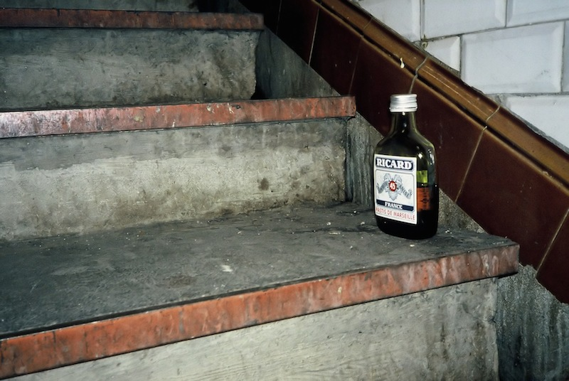 Pastis Bottle Left on Stairs of a Passageway, Paris Metro 1996