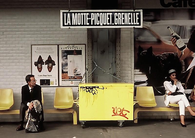 La Motte - Picquet Grenelle Station, Paris Metro 1993