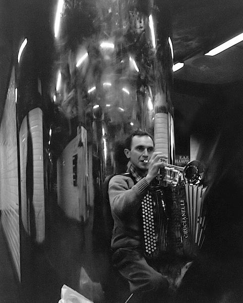 Trumpet and Accordion Player, Paris Metro 1996