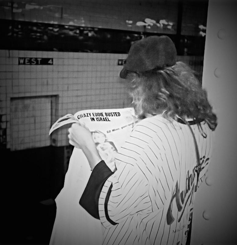 Awaiting Passenger on West 4th Street Platform, New York Subway 1992