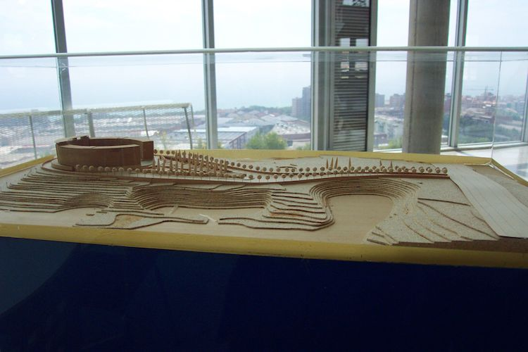 Architectural Model of the Badalona International Business Center